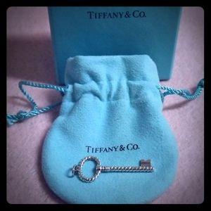SALE: Tiffany &Co. Sterling Key Lock Pendant